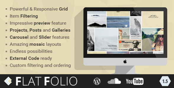 FlatFolio - Flat & Cool WP Portfolio