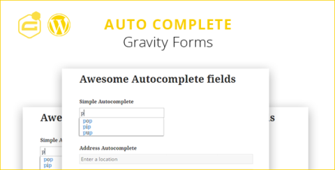 Gravity Forms Auto Complete (+address field)