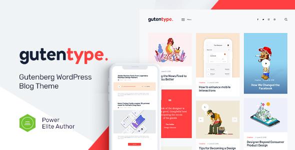 Gutentype   100% Gutenberg WordPress Theme for Modern Blog + Elementor