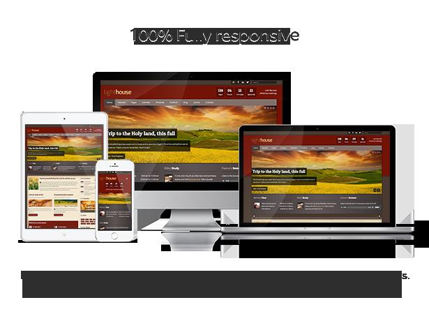Lighthouse Joomla Template is 100% responsive
