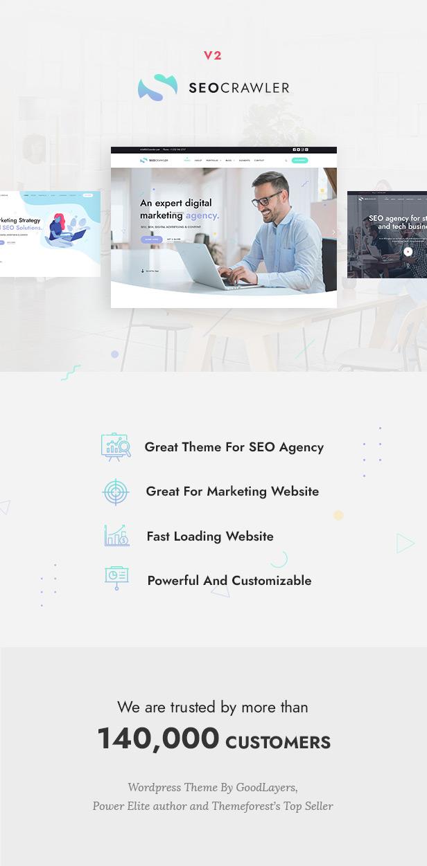 SEOCrawler - SEO & Marketing Agency WordPress - 1