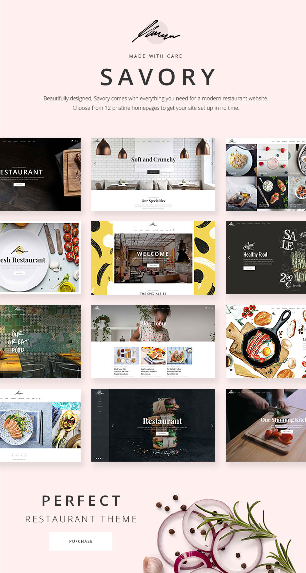 Savory - Restaurant Theme - 1