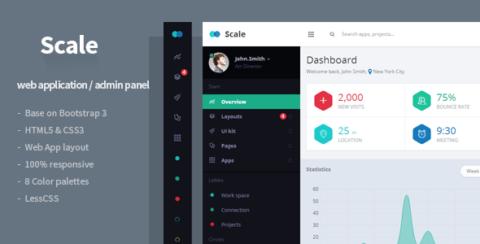 Scale - Web Application & Admin Template