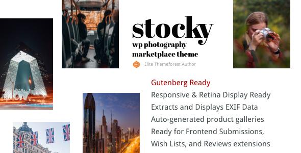 Stocky - A Stock Photography Marketplace Theme
