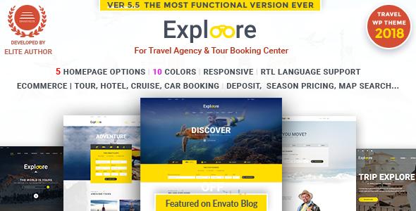 Tour Travel WordPress | EXPLOORE