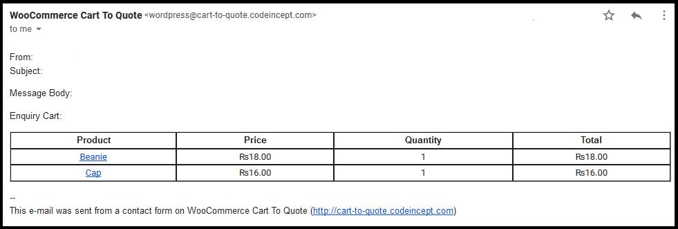 WooCommerce Cart To Quote Plugin - 1