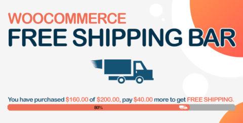 WooCommerce Free Shipping Bar - Increase Average Order Value