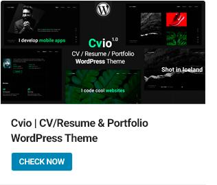 Cvio WordPress Theme