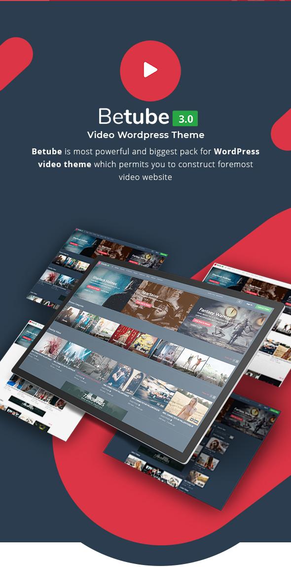 betube video WordPress theme intro