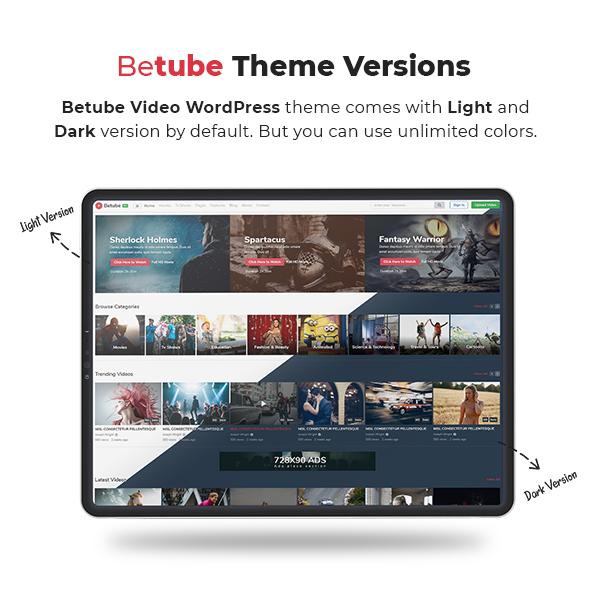 video WordPress theme