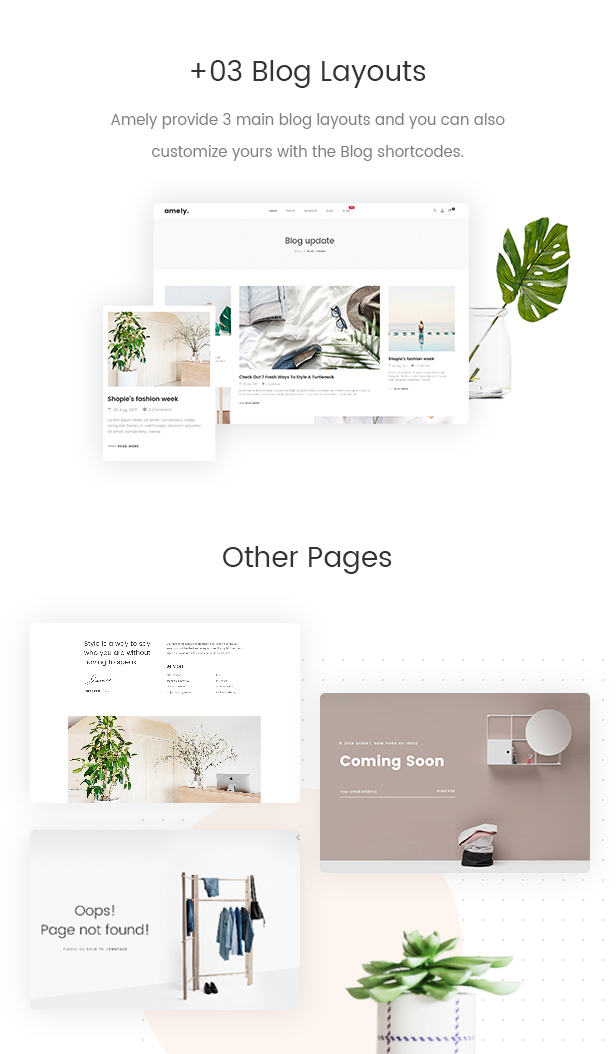 Fashion WooCommerce WordPress Theme - 3+ Blog Layouts & Other pages