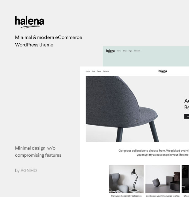 Halena   Minimal & Modern eCommerce WordPress Theme - 2