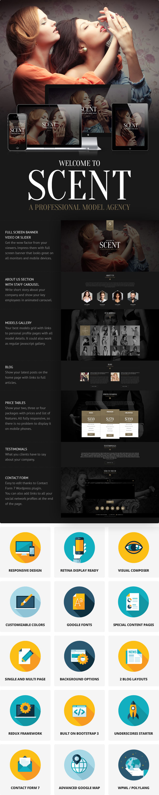 Scent - Model Agency WordPress Theme - 1