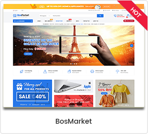 BosMarket - Flexible Multi Vendor WordPress Theme