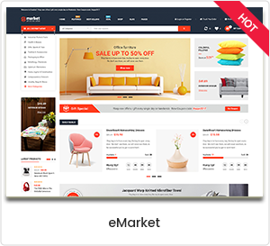 eMarket - eCommerce & Multipurpose Marketplace WooCommerce WordPress Theme