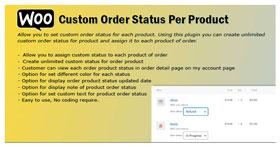 WooCommerce Order Status Per Product