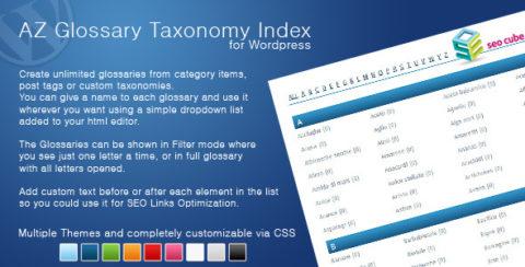 AZ Glossary Taxonomy Index