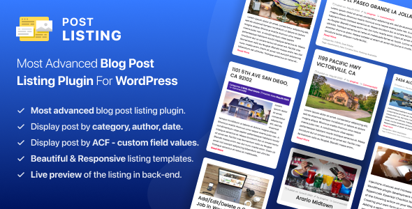 Advanced Posts Grid for Wordpress