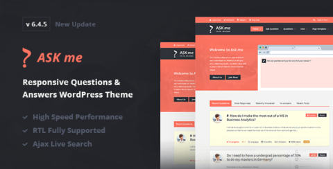 Ask Me - Responsive Questions & Answers WordPress
