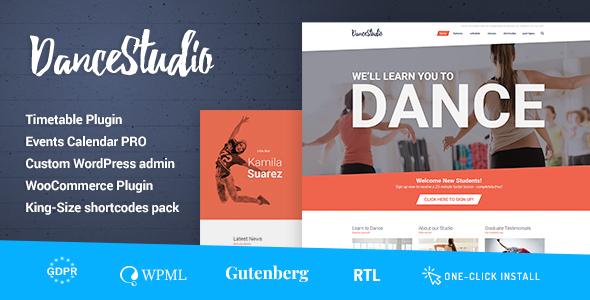 Dance Studio - WordPress Theme for Dancing Schools & Clubs