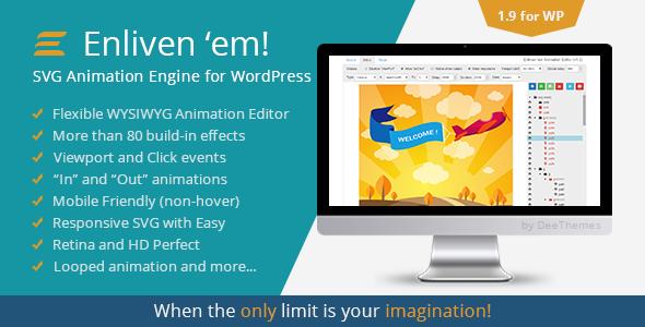 Enliven 'em! - SVG Animation Engine for WordPress