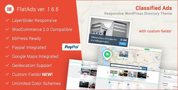 FlatAds - Classified Ads WordPress Theme