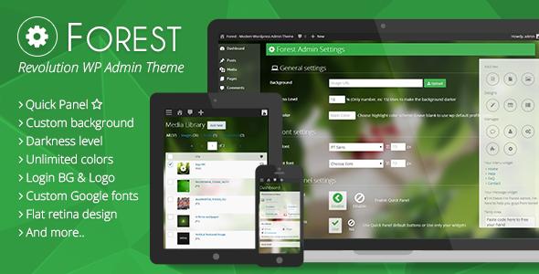 Forest - Revolution Wordpress Admin Theme