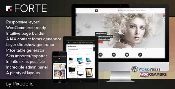 Forte — Multipurpose WP Theme (WooCommerce Ready)