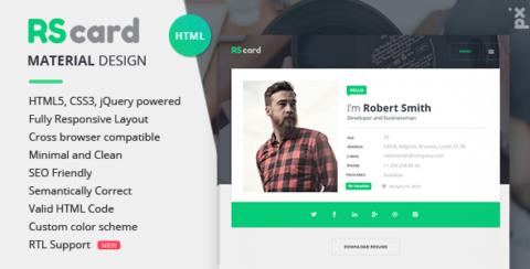 Material CV / Resume & vCard
