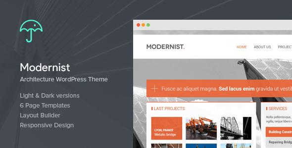 Modernist - Architecture&Engineer Wordpress Theme