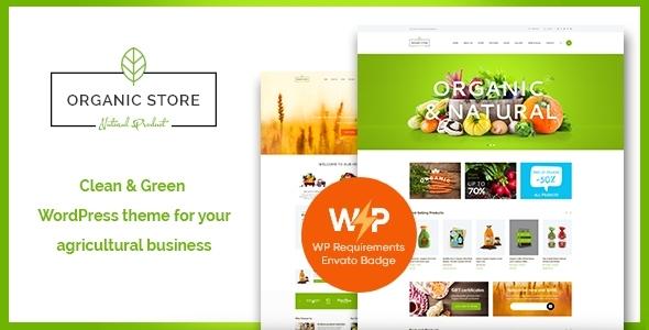 Organic Store   Eco Products Shop WordPress Theme + RTL