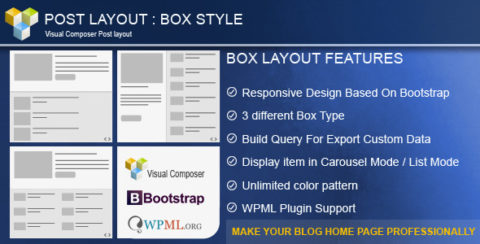 Post Layout : Box Style  for Visual Composer