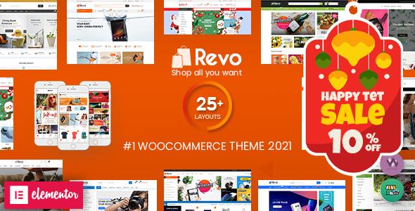 Revo - Multipurpose Elementor WooCommerce WordPress Theme (25+ Homepages & 5+ Mobile Layouts)