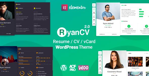 RyanCV - CV/Resume Theme