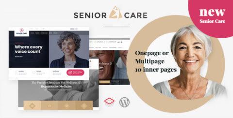 Senior   Health and Medical Care WordPress Theme