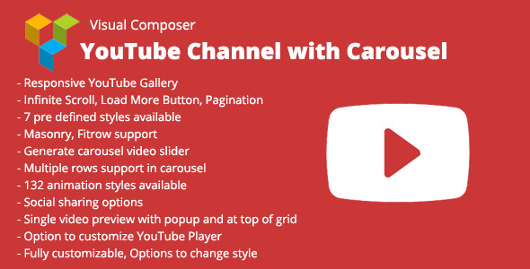 WPBakery Page Builder (Visual Composer) YouTube Channel with Carousel