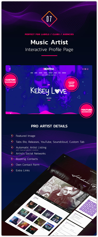 Kentha Music WordPress Theme 08