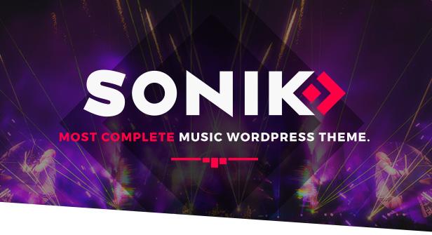 Sonik Responsive Music WordPress Theme