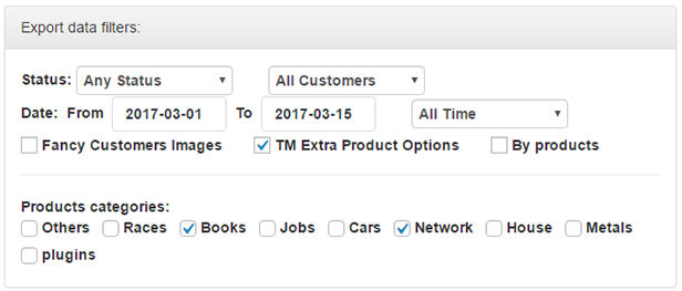 WooCommerce Orders and Products Export - 1
