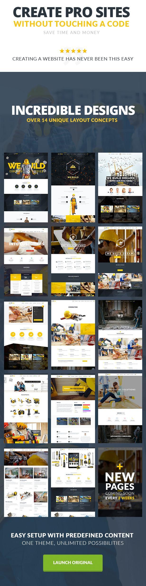 We Build - Construction WordPress Theme - 2
