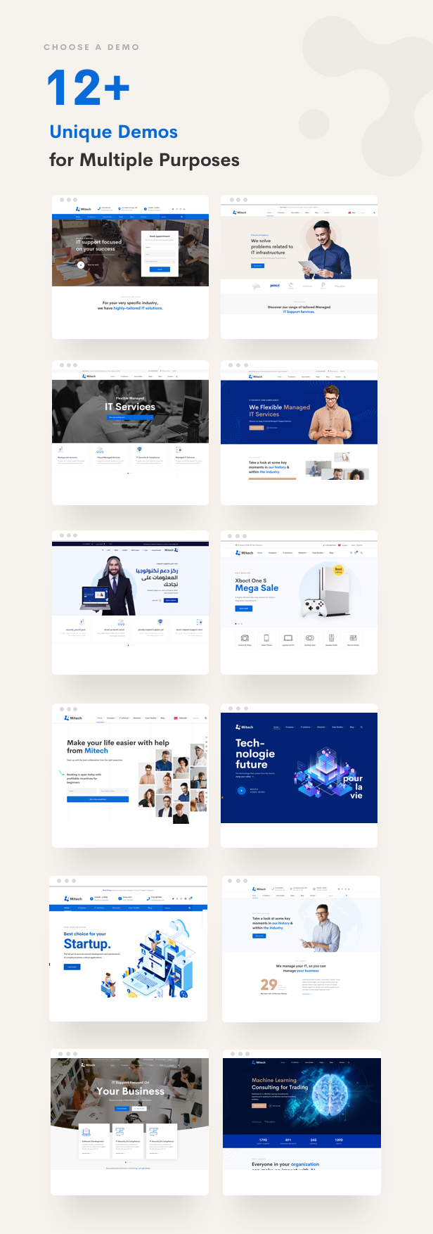 IT Solutions Mitech - Technology, IT Solutions & Service WordPress Theme - Homepages