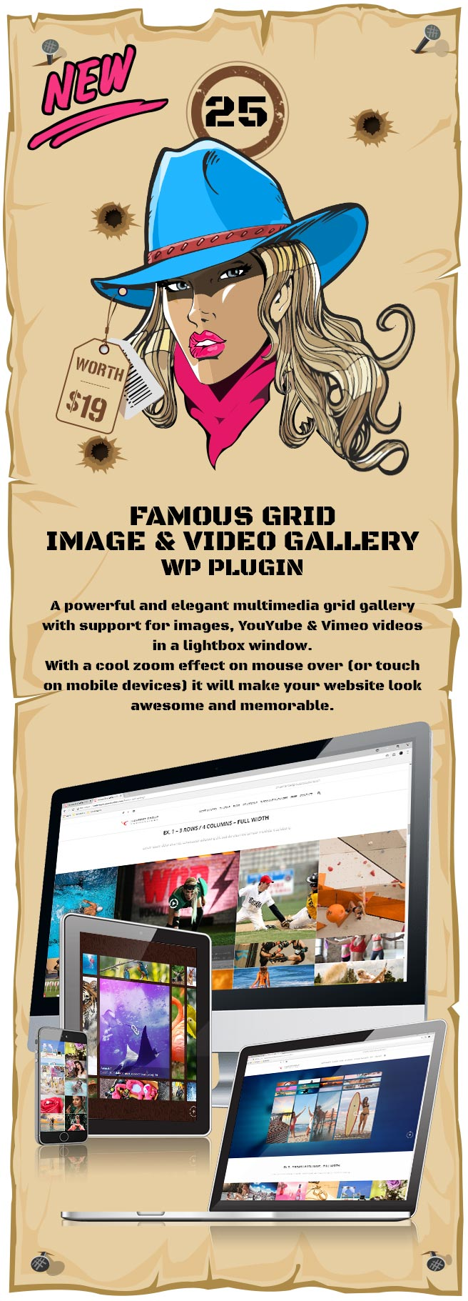 Famous - Responsive Image And Video Grid Gallery WordPress Plugin