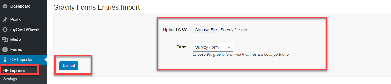 gravity forms entries importer