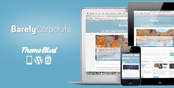 Barely Corporate Responsive WordPress Theme