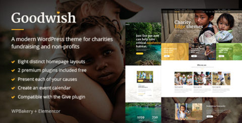 Goodwish - Charity & Nonprofit Theme