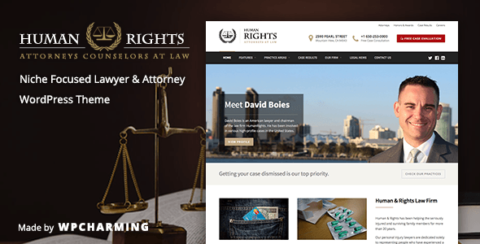 HumanRights - Lawyer and Attorney WordPress Theme