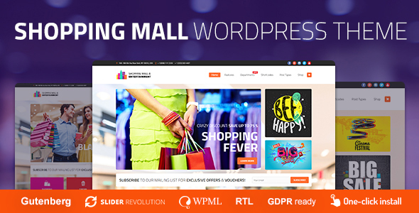Shopping Mall - Entertainment Center and Business WordPress Theme