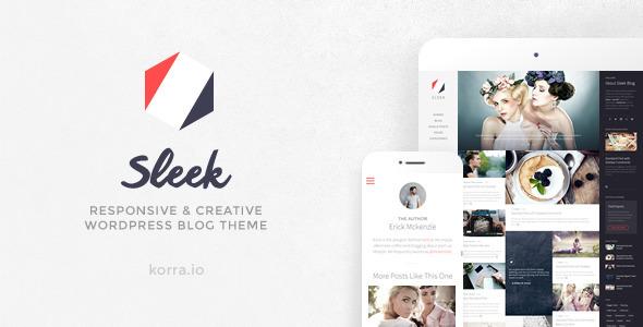 Sleek | Responsive & Creative WordPress Blog Theme