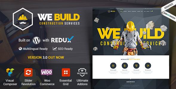 We Build - Construction WordPress Theme
