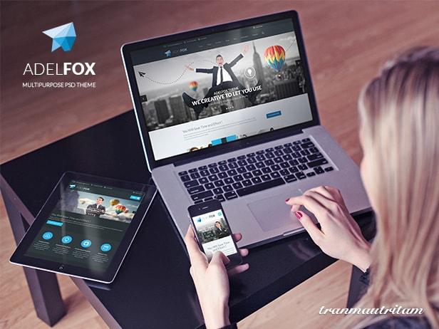 AdelFox - The Best PSD on Themeforest - Showcase AdelFox Design